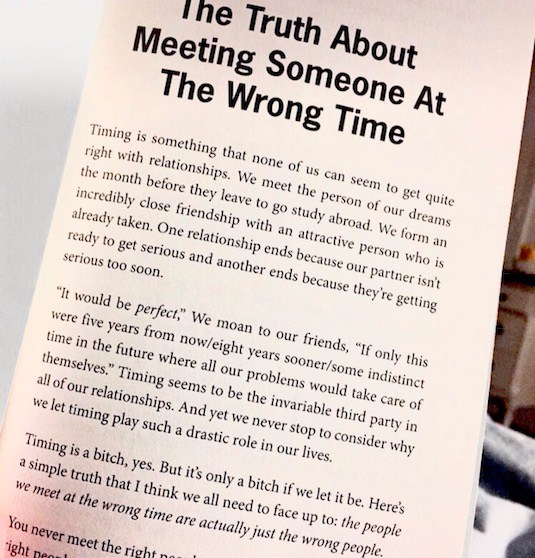 """Truth About Meeting Someone At The Wrong Time"""" – The Sanctuary"""